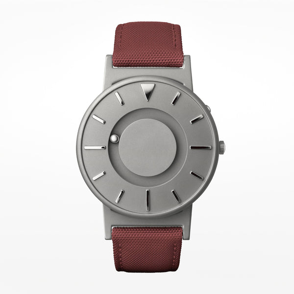 Bradley canvas wristwatch red