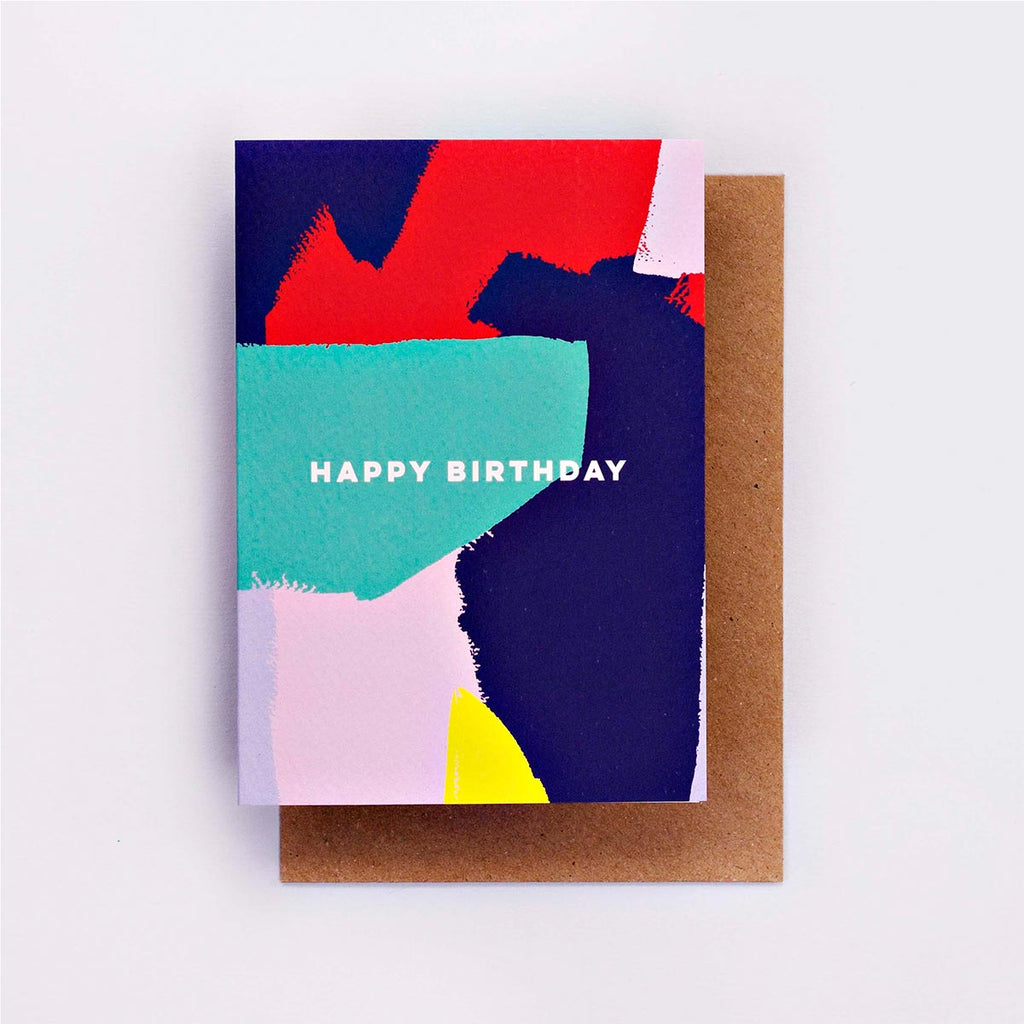 Bright Painter Birthday Card Greetings Card