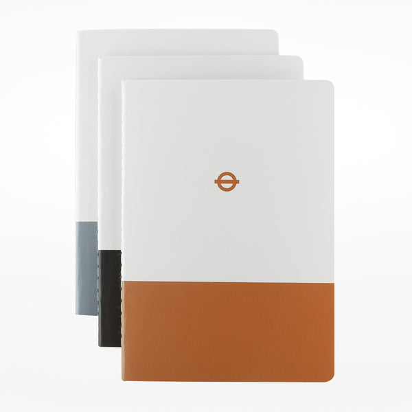 3 x A6 Tube Line Notebooks - Bakerloo / Northern / Jubilee