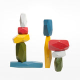 Balancing blocks - multicoloured