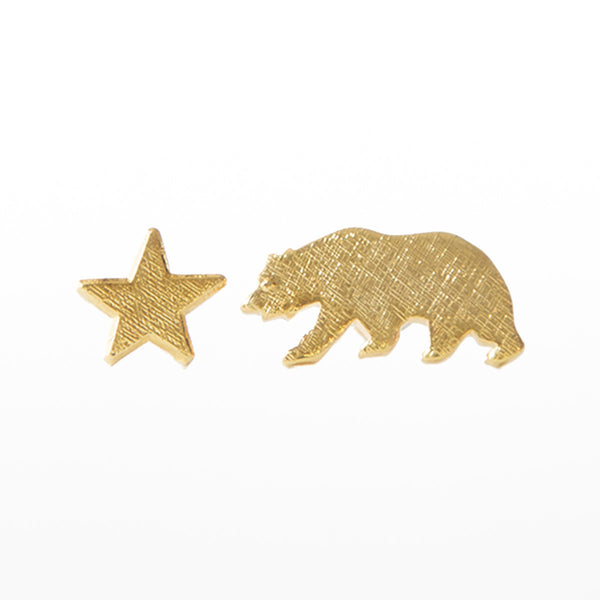 Bear and Star earrings