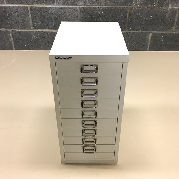 Bisley 10 drawer Unit - White (Ex-Display)