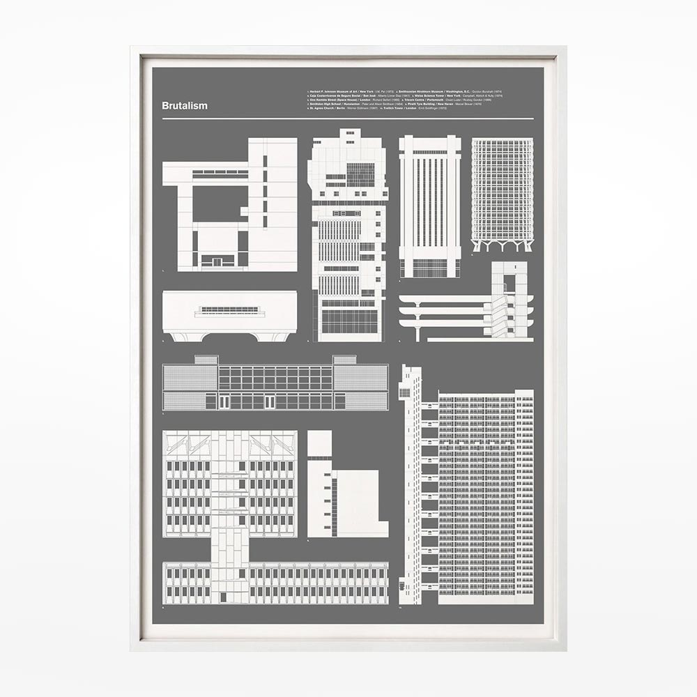 Brutalism print grey design museum shop brutalism print grey malvernweather Images