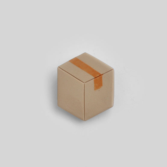 Cardboard Box pin badge
