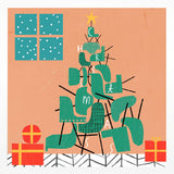 Christmas Card - Christmas chairs