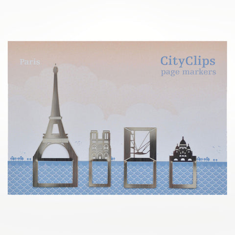 City Clips Page Markers - Paris
