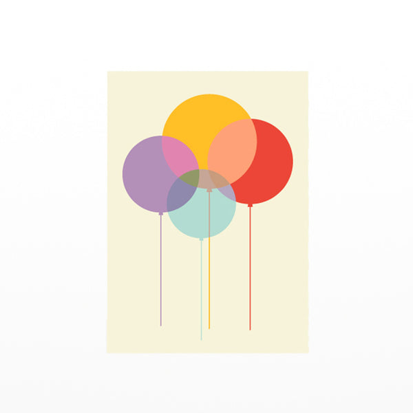 Balloons Card by Dicky Bird