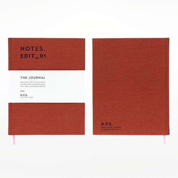 DC Journal - A5 rusty red