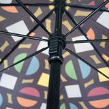 Slim Bright Roundel Print Umbrella
