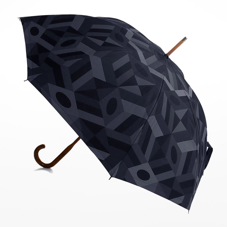 Maple Stick Blocker Black Print Umbrella