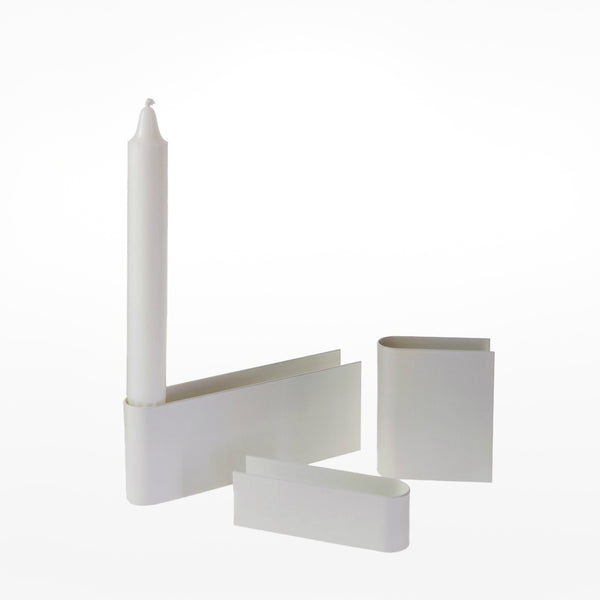 Heights candle - white