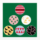 Christmas Card - Festive baubles