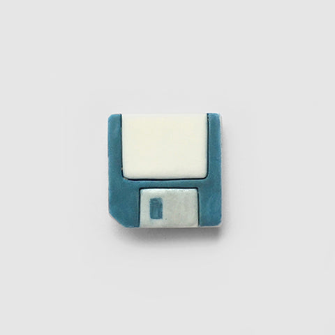 Floppy Disk pin badge