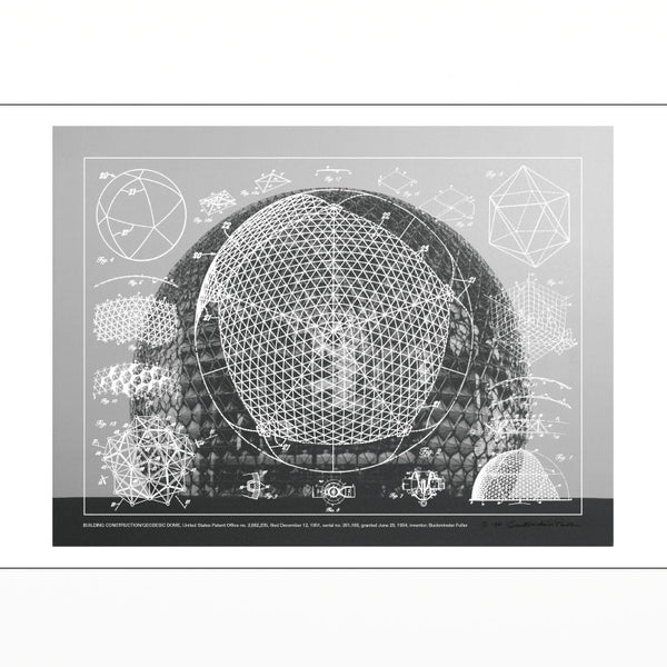 California Designing Freedom postcard - Geodesic Dome