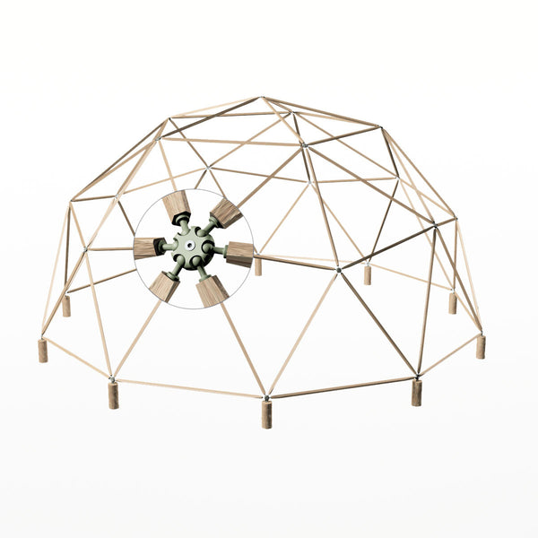 2x6 Heavy Duty Wood Geodesic Hub Kit: Design Museum Shop