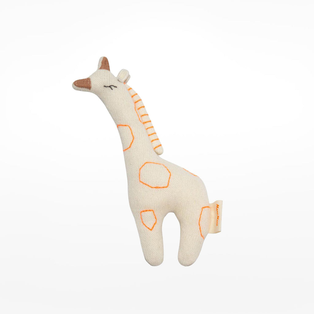 Knitted Rattle Giraffe