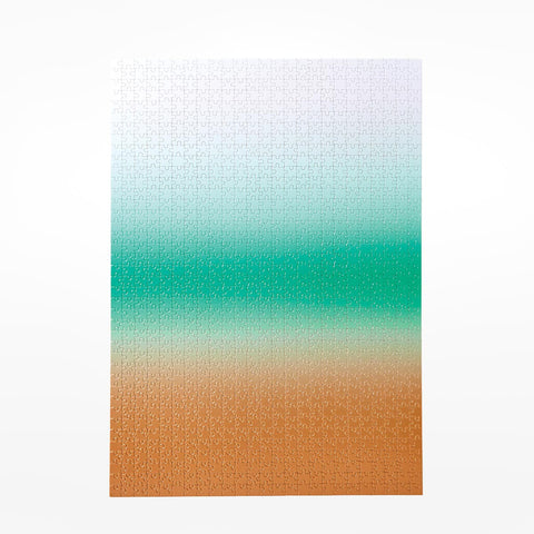 Colour Gradient Pattern Jigsaw Puzzle - Teal / Bronze