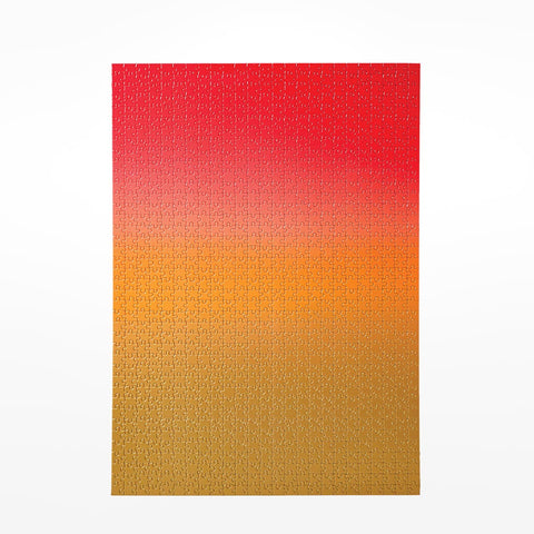 Colour Gradient Pattern Jigsaw Puzzle - Red / Gold