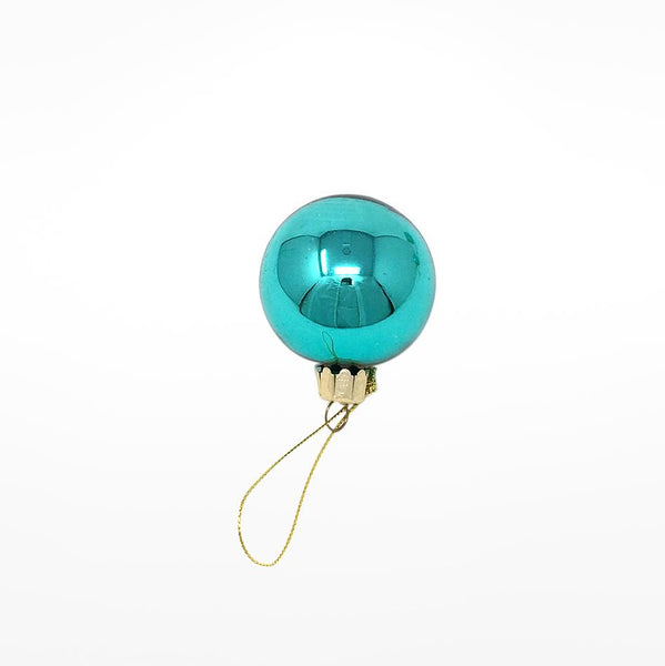 Teal Bauble - mirrored