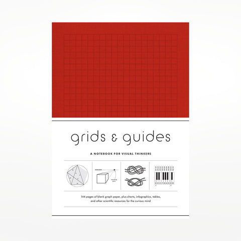 Grids & Guides (Red): A Notebook for Visual Thinkers
