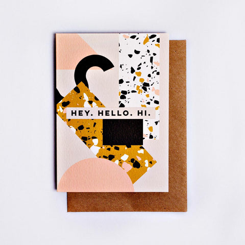 Memphis Hey Hello Hi Card