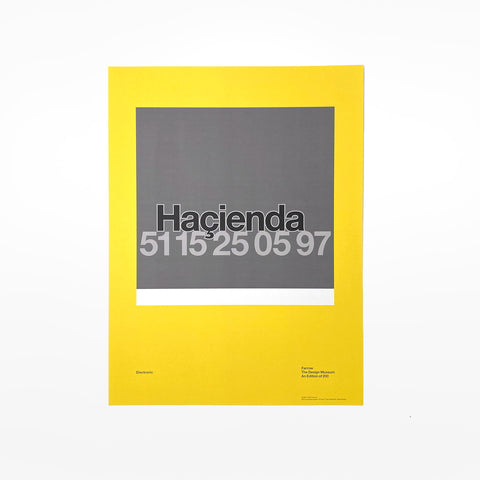 Haçienda 15th Birthday Poster