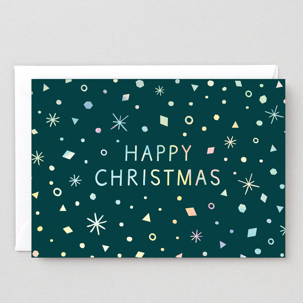 Happy Christmas Snowflakes Card
