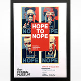 Hope to Nope Exhibition poster