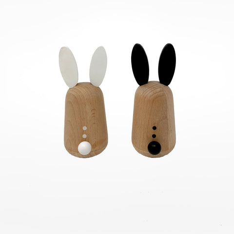 Wobbly Wooden Rabbits