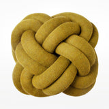 Knot cushion mustard