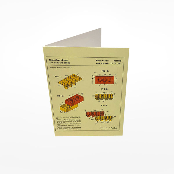 Toy Building Brick Greetings Card