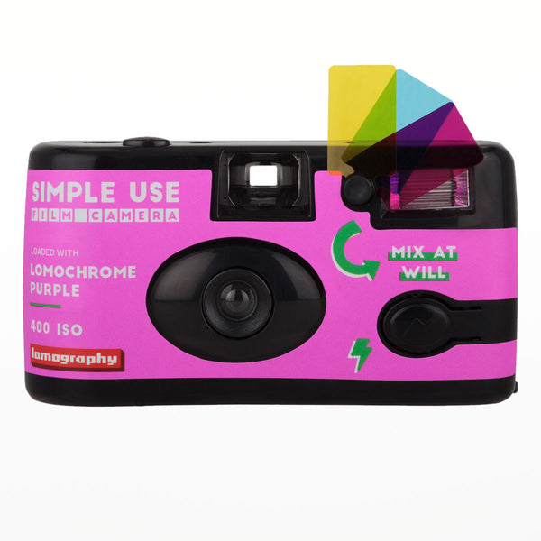 Lomography Simple Use Camera Lomochrome Purple - front