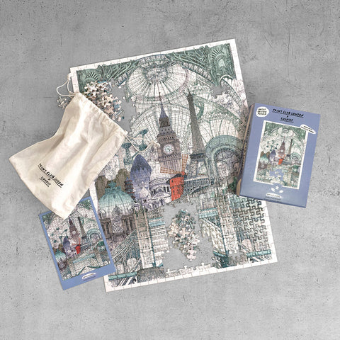 London Paris Brussels Jigsaw Puzzle