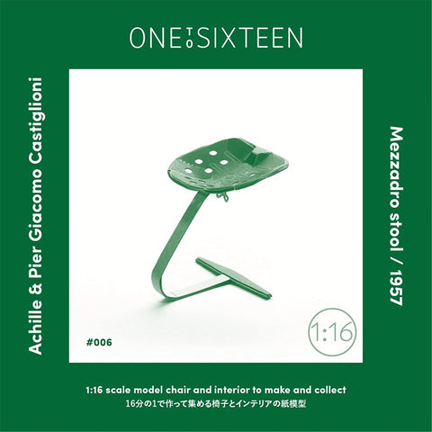 1:16 scale model Mezzadro Stool