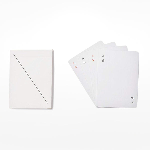 Minim playing cards - white