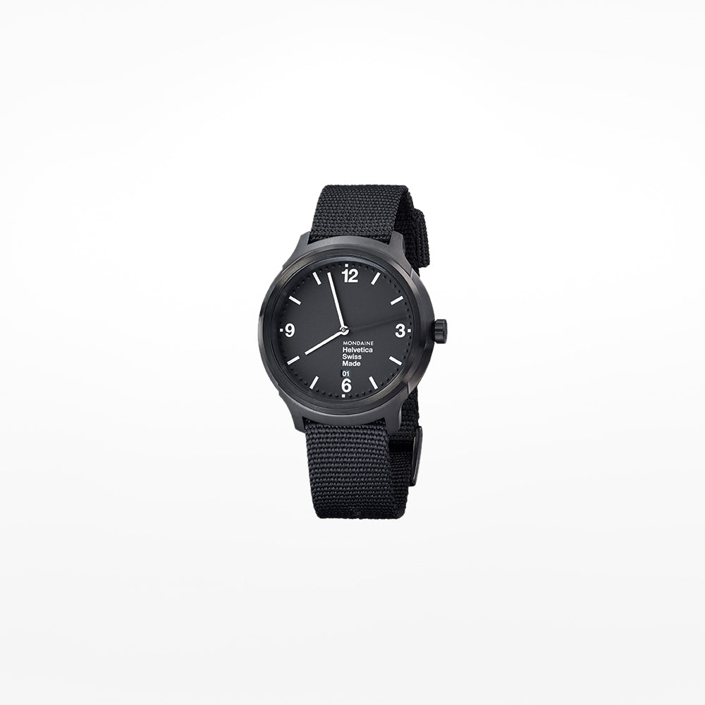 Mondaine Helvetica No.1 Bold Wristwatch with black 43mm case