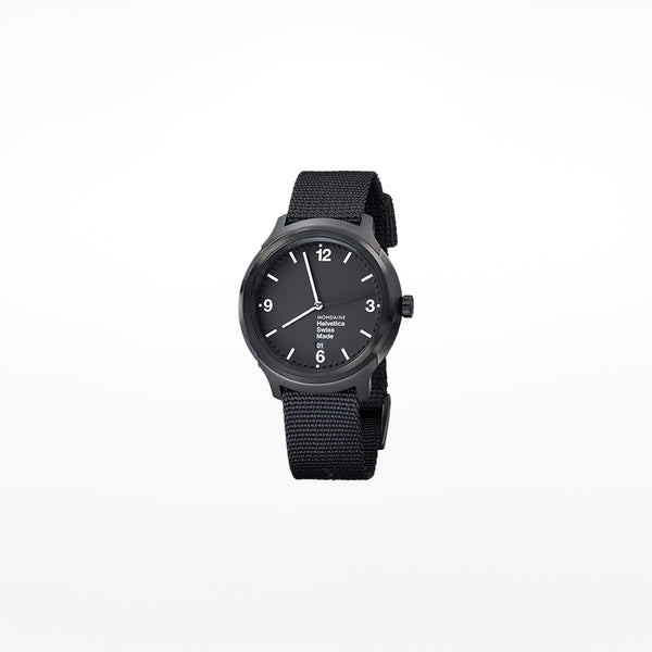 Mondaine Helvetica No.1 Blod Wristwatch with 43mm case