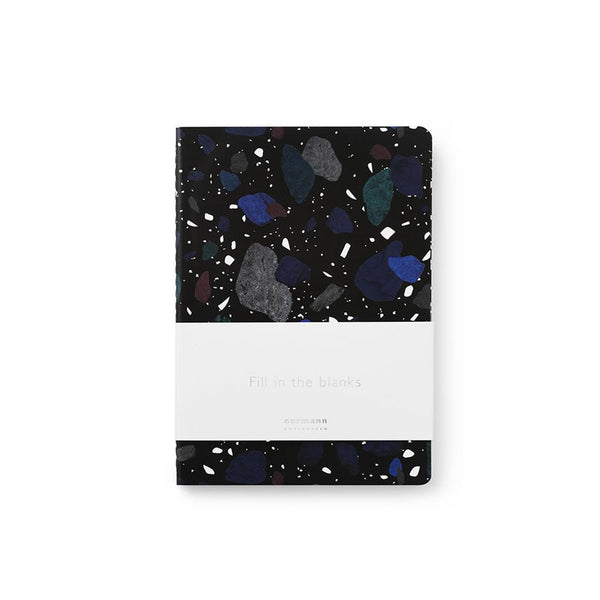 Dark Print Notebook with belly band