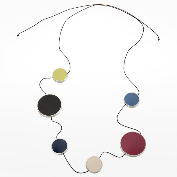Oxx Reversible Rubber and Silver Necklace