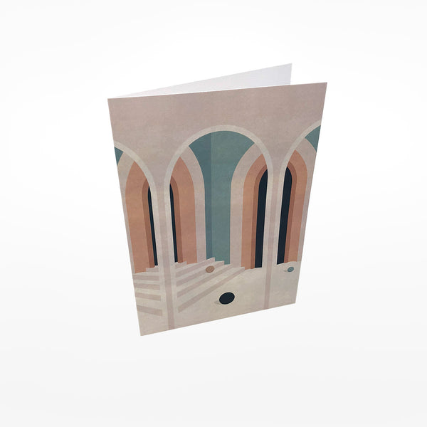 Pastel Arches Greetings Card
