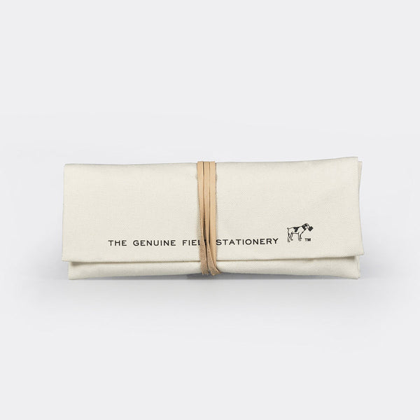 Field Roll Pen Case - white