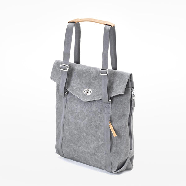 Qwstion Tote - washed grey