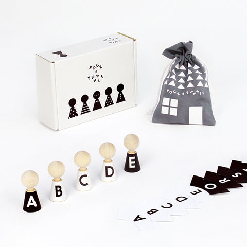 Alphabet Mini Wooden Dolls