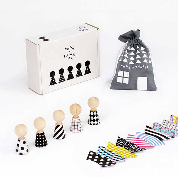 Modern Mini Wooden Dolls