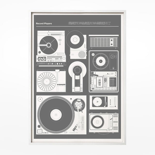 Record Players Print