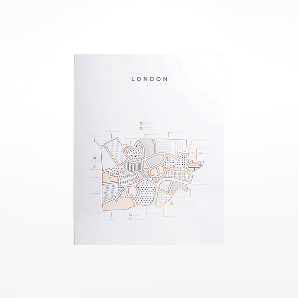 Map Of Central London To Print.Central London Map Print Design Museum Shop