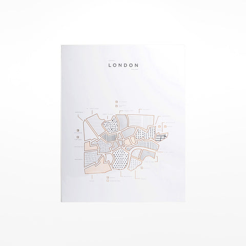 Central London Map Print