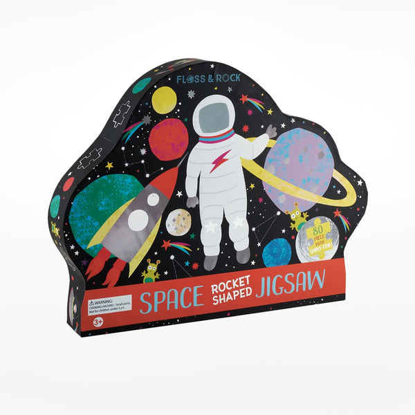 "Space ""Rocket"" Shaped Jigsaw with Shaped Box"