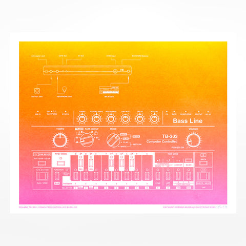 Roland TB-303 Gradient Poster