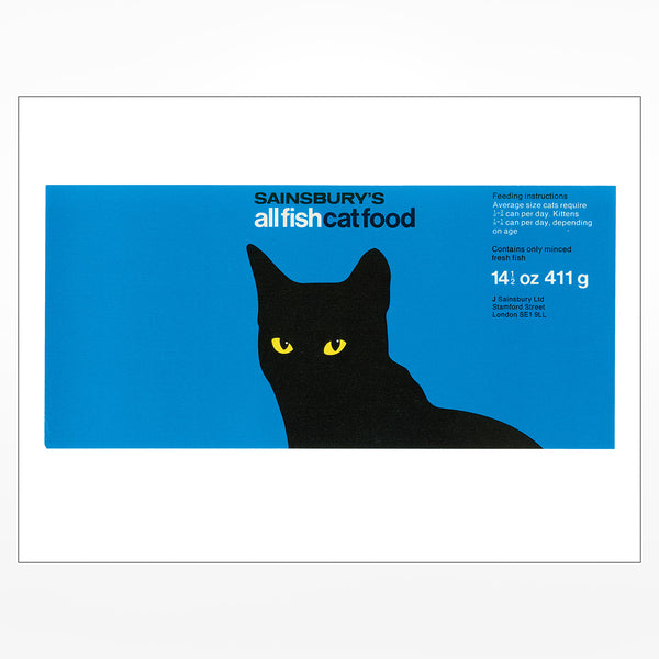 Sainsbury's Own Cat Food Giclee Print
